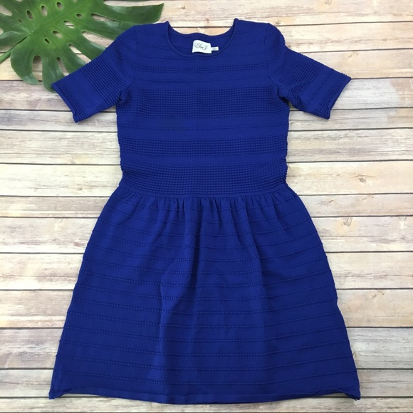 Eliza J Dresses   Skirts - Eliza j bright blue sweater knit dress 72210bea9